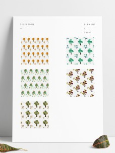 PS填充圖案植物圖案紋理