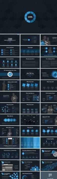 商务数据图表PPT