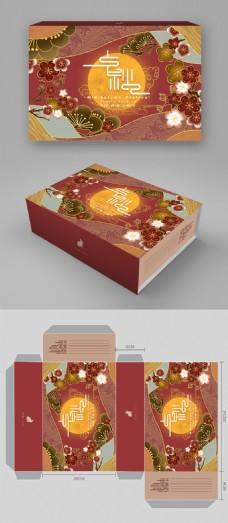 原创手绘中秋中国喜庆风包装
