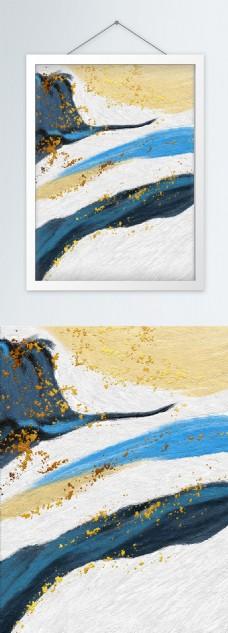 手绘抽象油画装饰画