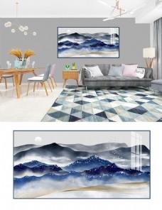 原创水墨画新中式手绘意境山水装饰画