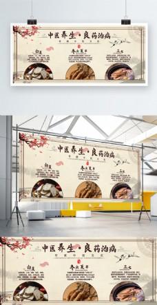 中国风中药中医养生文化展板