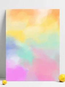 多彩颜色背景卡通壁纸