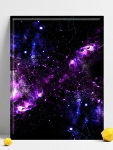 梦幻星河蓝色紫色星空星星梦幻多彩背景