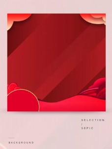 红色渐变主图背景素材