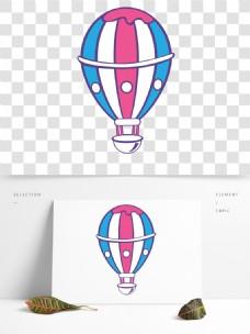 彩色节日热气球卡通透明素材