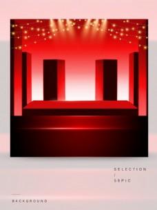 红色舞台的主图背景