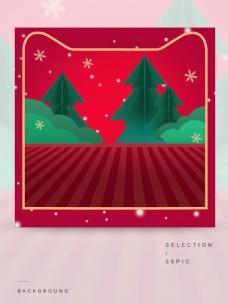 红色的圣诞主图背景
