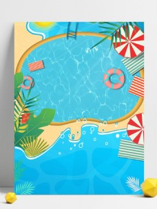 蓝色游泳培训班招生背景