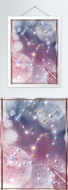 原创星际星辰斑驳宇宙浪漫柔美装饰画