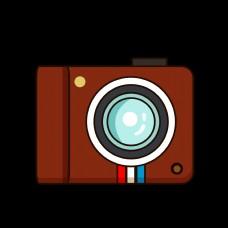 矢量卡通家电照相机GIF