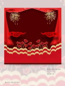 红色的节日主图背景