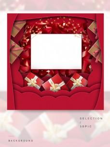 红色礼物盒的主图背景