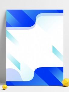 简约蓝色流线边框背景