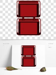 红色的立体框素材