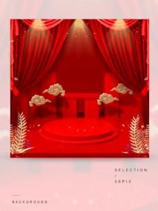 红色的中国风主图背景