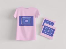原创场景衣服样机T恤贴图