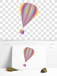 节日喜庆热气球卡通透明