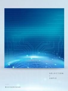 未来感大数据定位科技背景