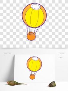 节日喜庆热气球卡通透明素材