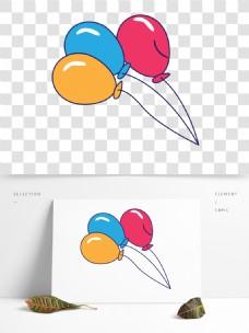 节日喜庆气球卡通透明素材