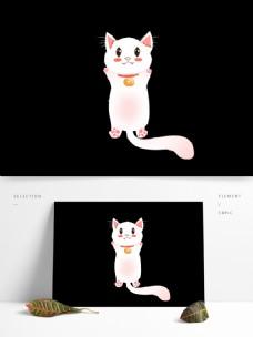 原创手绘一只可爱的小猫咪动物元素