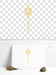 金色圆环花纹吊坠