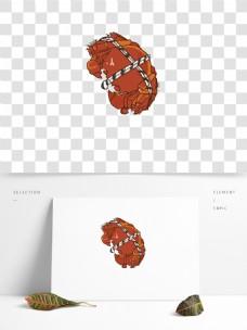 螃蟹手绘单只捆绑