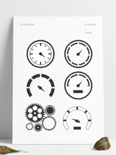 手绘仪表盘套图设计元素