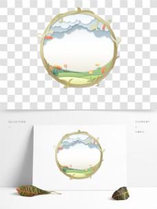 微立体植物花卉金属圆环