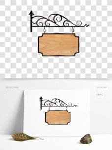 欧式金属挂件木板告示边框