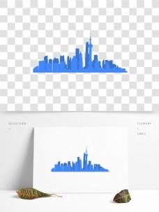 上海城市楼房创意剪影矢量AI