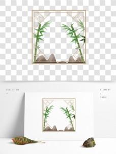 手绘中国风窗户花边边框国风