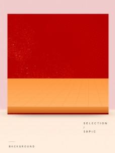 简约红色的主图背景