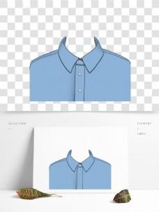 单人证件服装半身照蓝色衬衣