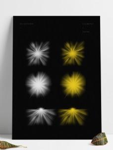 聚光束暖黄色白色太阳光光效光线投射光套图
