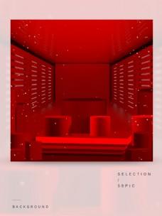 时尚红色的主图背景