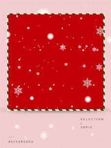 雪花装饰的红色主图背景