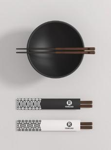 原创模型碗筷子餐饮样机包装