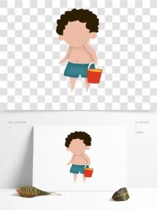 卡通可爱男生人物形象