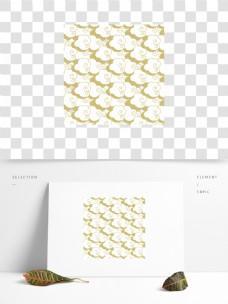 黄色中国风祥云纹理元素