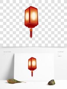 新春大红色灯笼节日元素