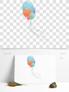 彩色节日气球卡通透明素材
