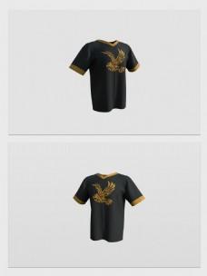 3D模型衣服短袖
