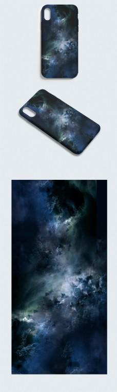 原创手绘大气磅礴云端之巅手机壳