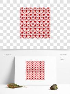 红色中国风祥云纹理元素
