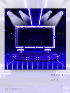 蓝色舞台的主图背景
