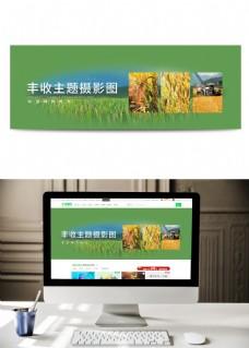 丰收摄影图UI全屏轮播海报