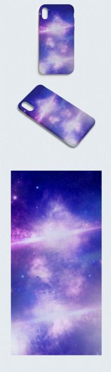 原创手绘绚丽唯美大气云端星空手机壳