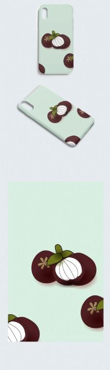 创意鼠绘棕色山竹水果手机壳